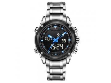 Relógio NaviForce NF9050 -Prata e Azul