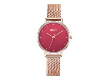 Relógio Lady Oulm HT3671- Rose e Vermelho