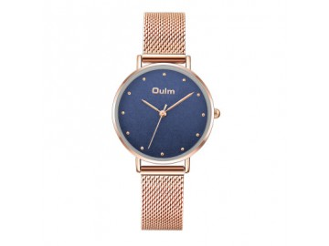 Relógio Lady Oulm HT3671- Rose e Azul