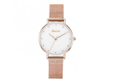 Relógio Lady Oulm HT3671- Rose e Branco