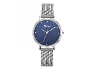 Relógio Lady Oulm HT3671- Prata e Azul