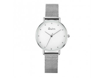 Relógio Lady Oulm HT3671- Prata e Branco