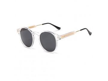 Óculos de Sol Vintage Round - Transparente