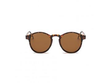 Óculos de Sol Vintage Round - Marrom Leopardo