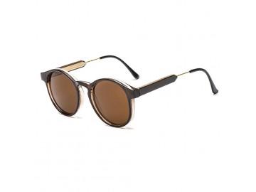 Óculos de Sol Vintage Round - Marrom Escuro