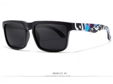 Óculos de Sol KDEAM - Black Colored Lentes Preta