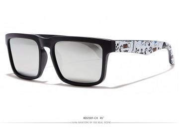 Óculos de Sol KDEAM - Caveira Lentes Cinza Espelhada