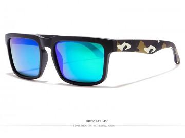 Óculos de Sol KDEAM - Camuflado Lentes Azul