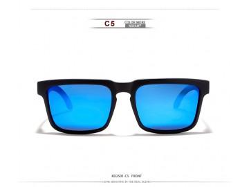 Óculos de Sol KDEAM - Branco Camuflado Lentes Azul