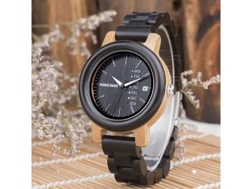 Relógio Feminino de Madeira Dododeer-B08
