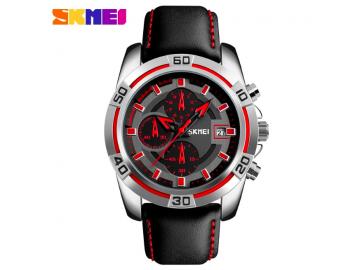 Relógio Masculino Skmei Chornograph Multicolor Dial - 9156 - Vermelho
