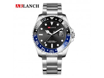 Casual Steel Watch Submariner 305 - Preto e Azul
