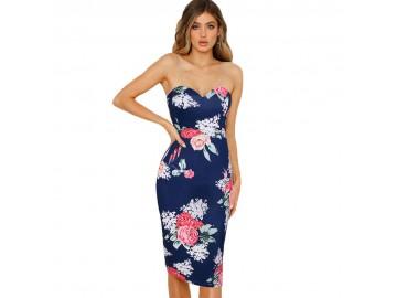 Vestido Lovely Flowers - Azul