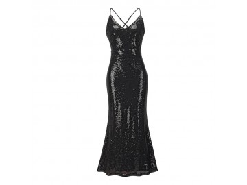 Vestido Shining Mermaid - Preto
