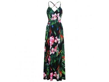 Vestido Longo Floral - Verde
