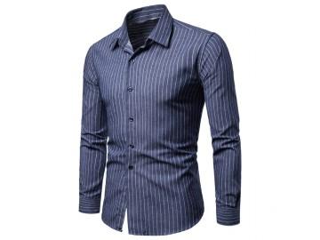 Camisa Social Cannes - Azul Escuro