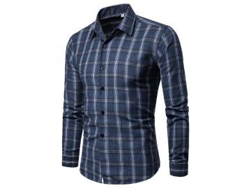 Camisa Xadrez Callander - Azul Escuro