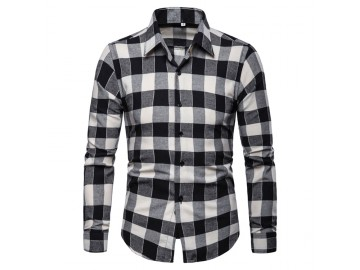 Camisa Xadrez Glasgow - Preto