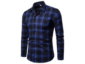 Camisa Xadrez  Liverpool - Azul