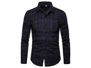 Camisa Xadrez Manchester - Azul Escuro
