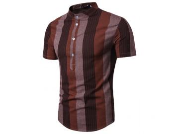 Camisa Listrada Sheffield - Marrom