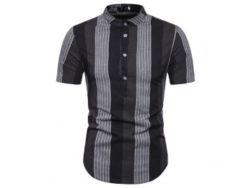 Camisa Listrada Sheffield - Preto