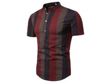 Camisa Listrada Sheffield - Vermelho