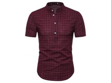 Camisa Xadrez York - Vinho