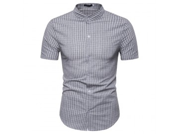 Camisa Xadrez Kingston - Cinza