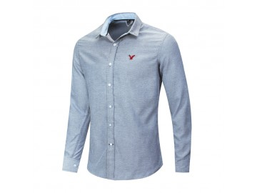 Camisa Social American Oxford - Cinza