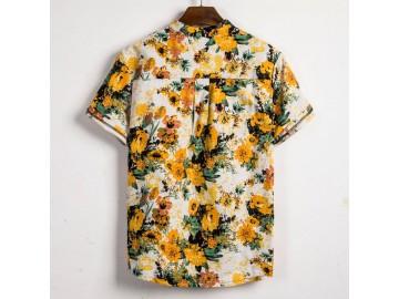 Camisa Havaiano Henley - Flower