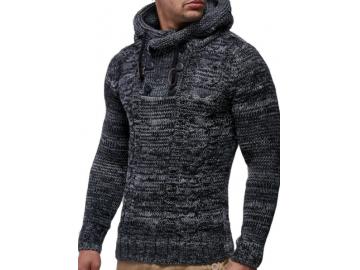Pullover Masculino Half Button - Cinza