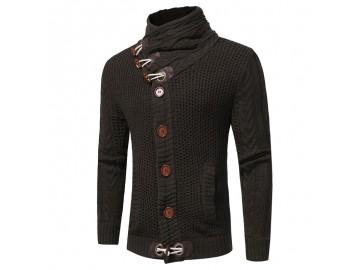 Cardigan Masculino Design Rolê Elegante - Cinza Escuro