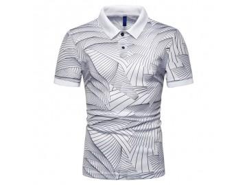 Camisa Polo Join Venture Estampada - Branca