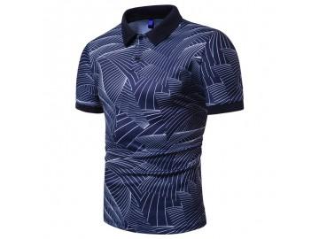 Camisa Polo Join Venture Estampada - Azul