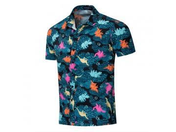 Camisa Estampada Dinosaur - Azul
