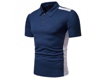 Camisa Polo Vintage School - Azul